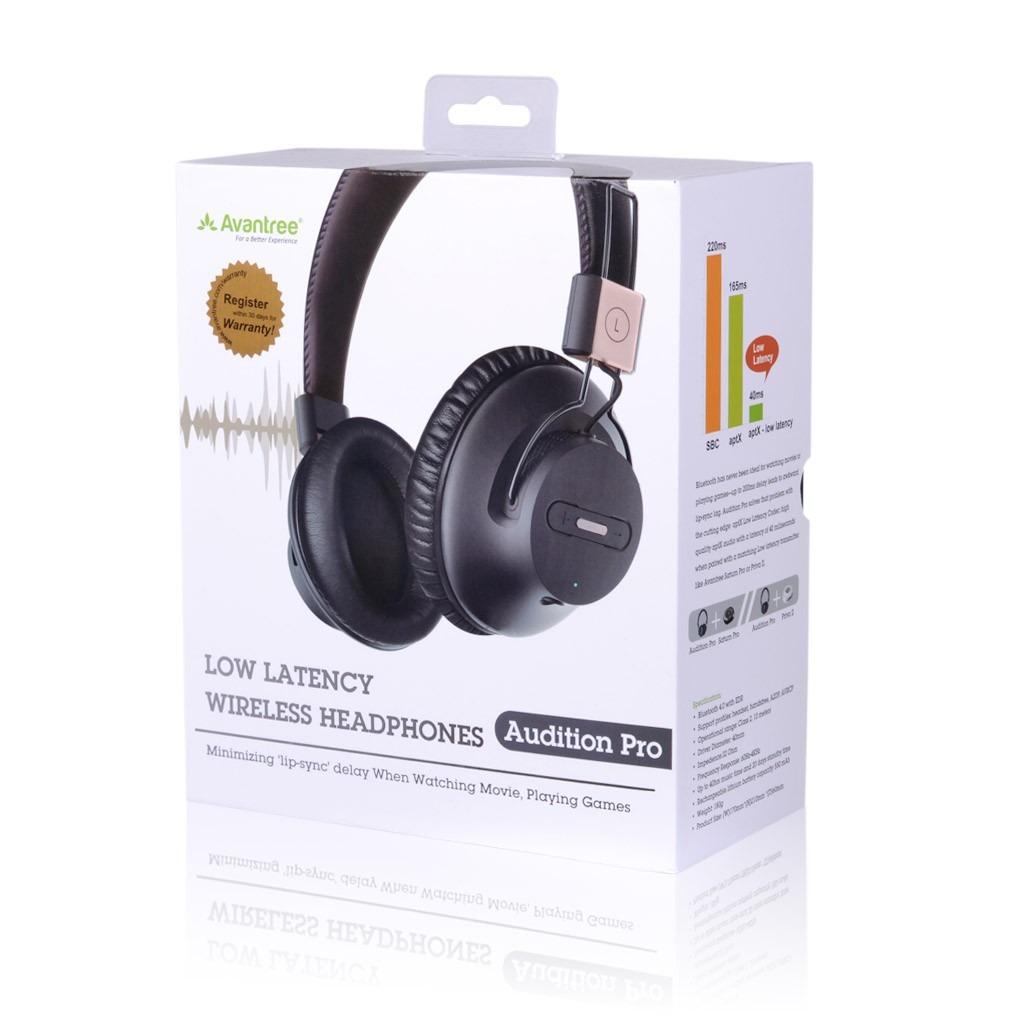 b4c4bc292c7 Avantree Bluetooth Stereo Headphones Audition Pro -Black | 2B Egypt