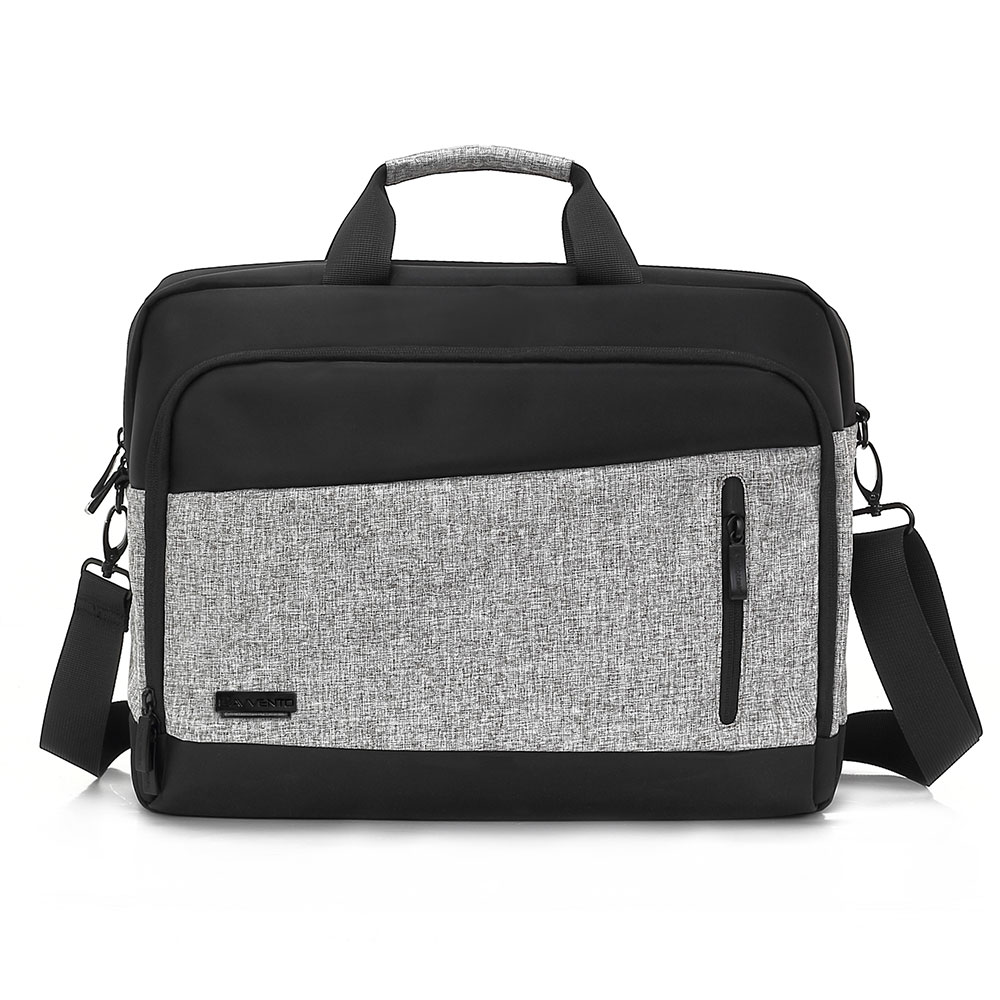 "L'avvento (BG345) Laptop Office Bag waterproof - Up to 15.6"" - Black*Gray"