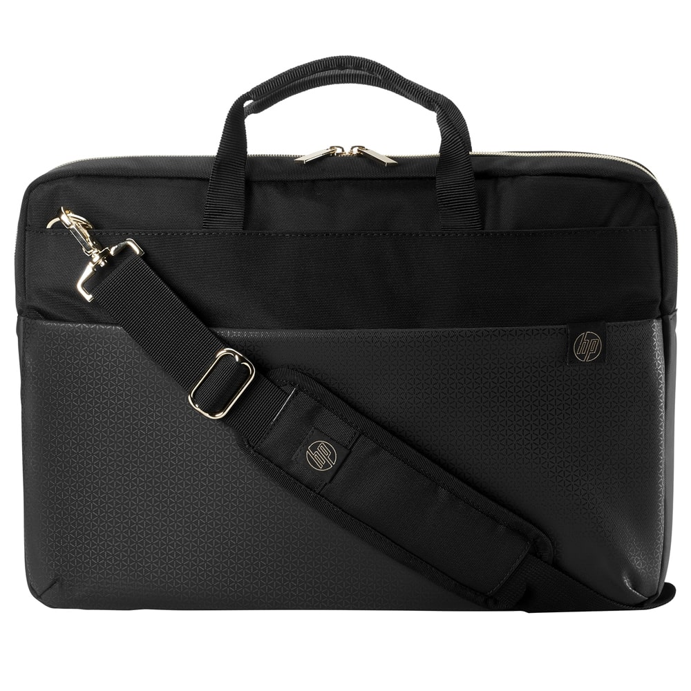 "HP DUOTONE BRFCASE Bag - 15.6"" - Black*Gold (4QF94AA)"