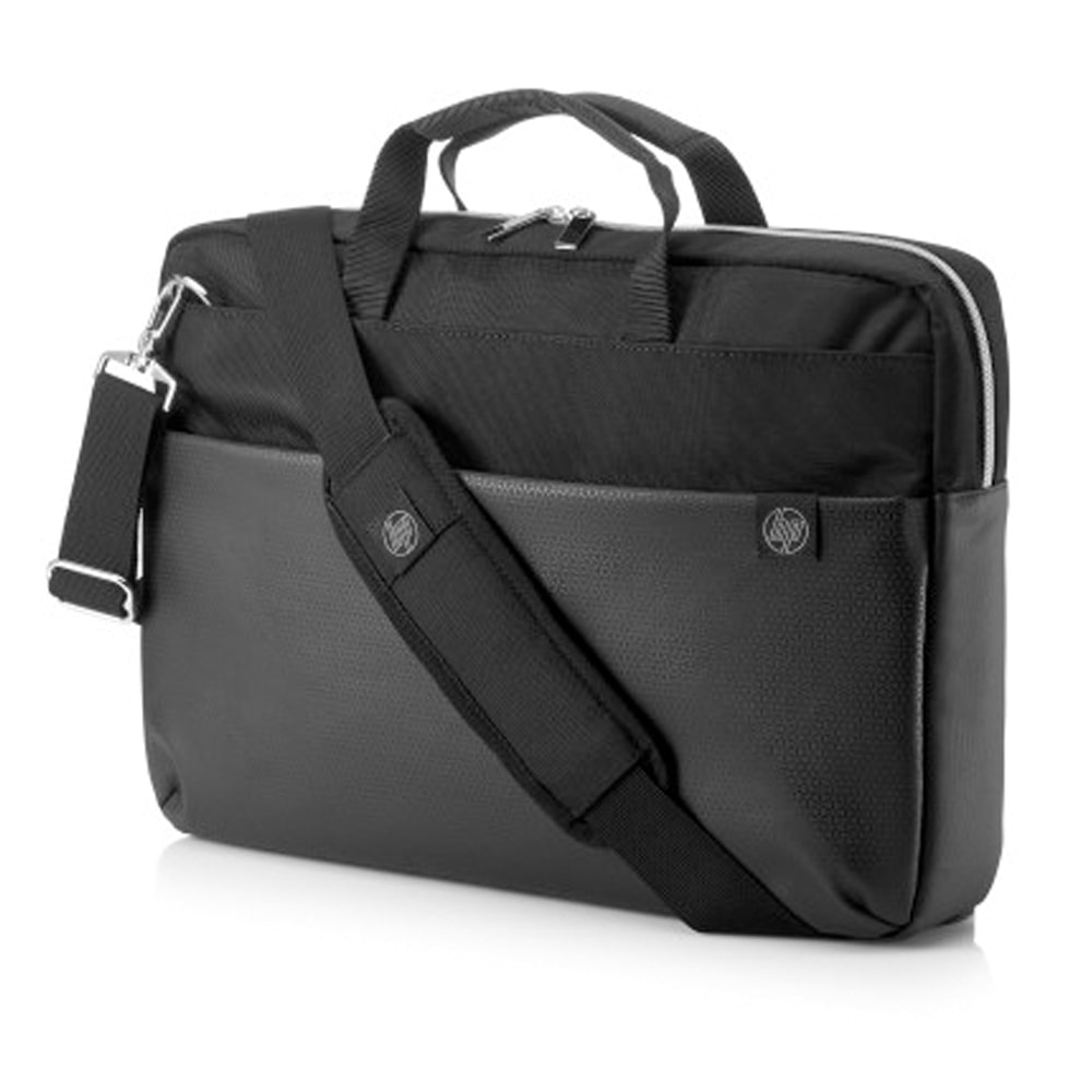 "HP DUOTONE BRFCASE Bag - 15.6"" - Black*Silver (4QF95AA)"