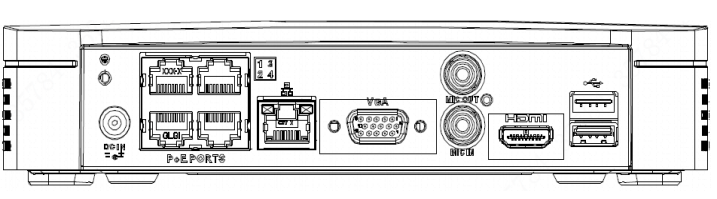Dahua EZ-IP NVR 4Channle Smart 1U H 265 4PoE Network Video Recorder up to  6TB NVR1B04-4P/L