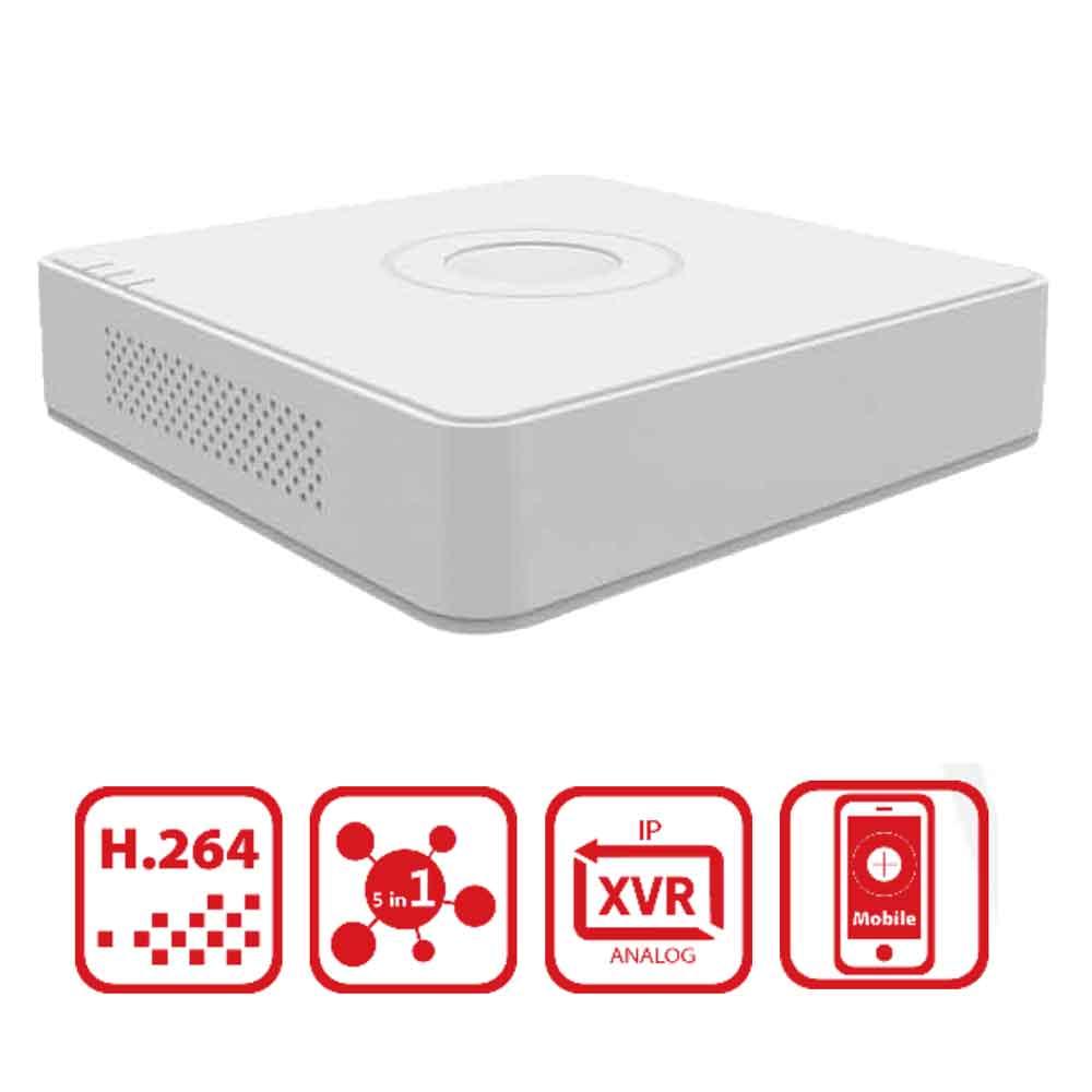 هيك فيجن جهاز تسجيل رقمى 4 قنوات 720 بكسيل يدعم هارد حتى 6 تيرا  DS-7104HGHI-F1 - أبيض