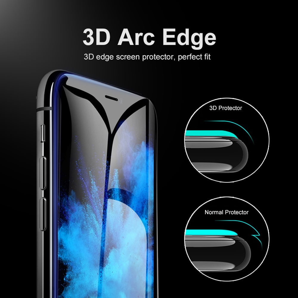 Icon-flang iPhone XR 6.1 Armor 3D Curved Full Glass Screen - Anti Blue Ray
