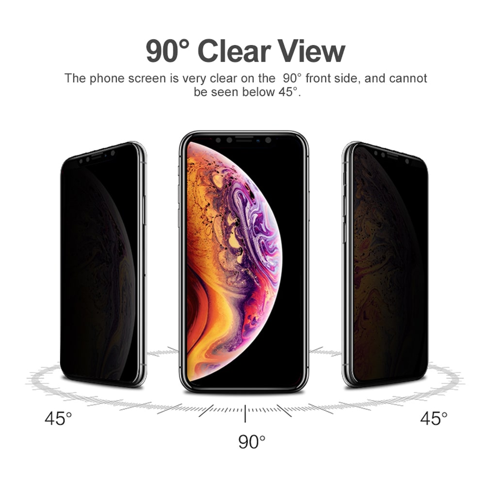 Icon-flang  iPhone XR 6.1 Guard 3D curved Full Anti Spy Glass Screen