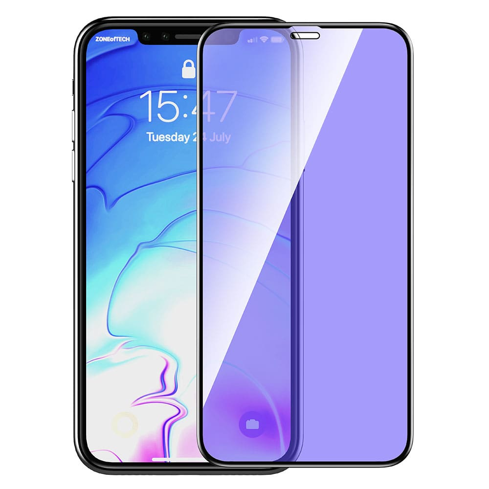 "Devia 3D Van Anti-blue Ray Full Screen Tempered Glass for iphone XS Max 6.5"" - Black"