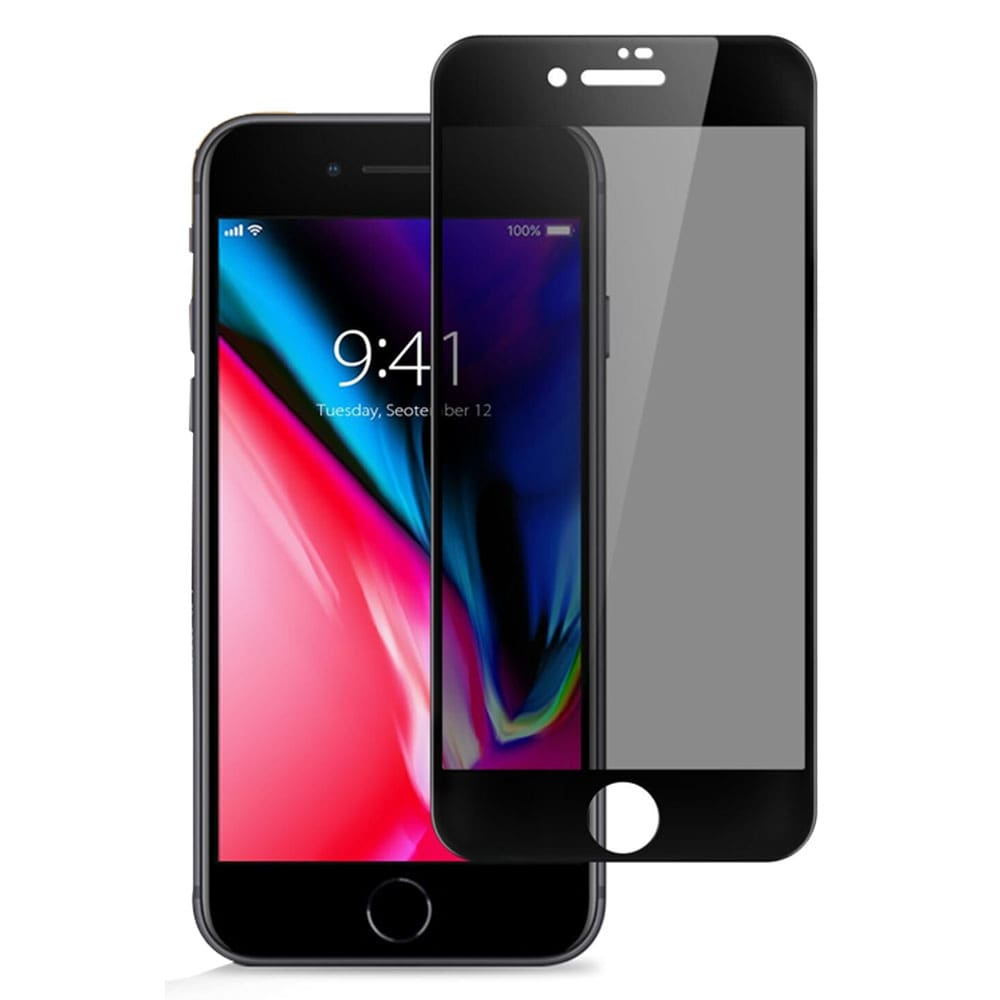 iPhone 7 plus 3D Curved Full Glass Screen Privacy - Black