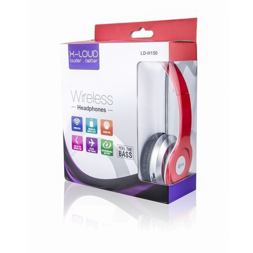 X Loud Headset Bluetooth Ld H150 Red 2b Egypt