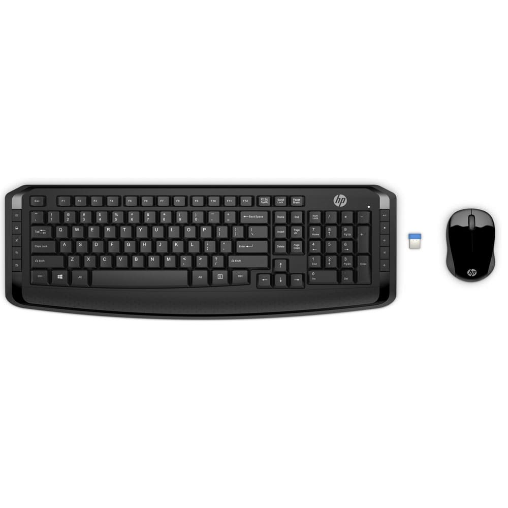 HP Wireless Keyboard & Mouse 300 - (3ML04AA)