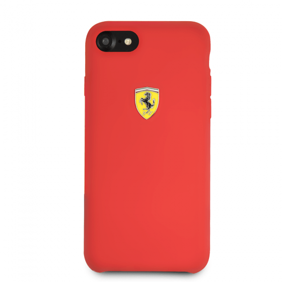 15d20ac6e Ferrari جراب ظهر لايفون 8 - أحمر مع لوجو فيراري | توبي مصر