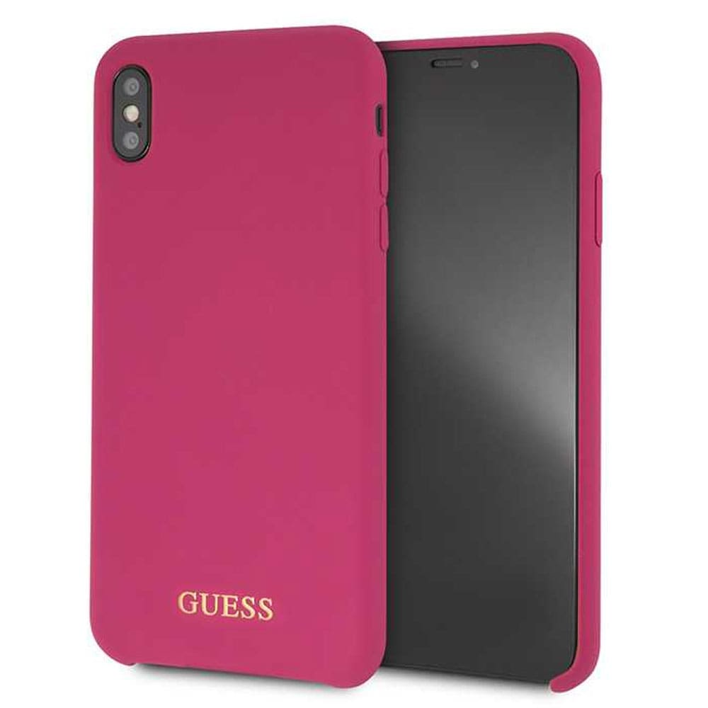 san francisco 83667 3e02f Guess iPhone Xs Max Silicone Case - Pink
