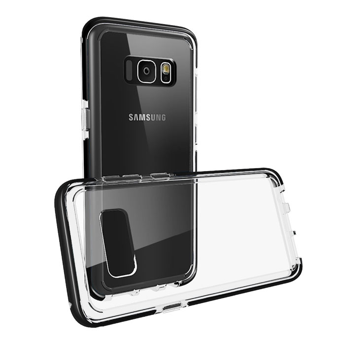 Shockproof Rubber Back Cover For Samsung Galaxy S8 Plus Clear