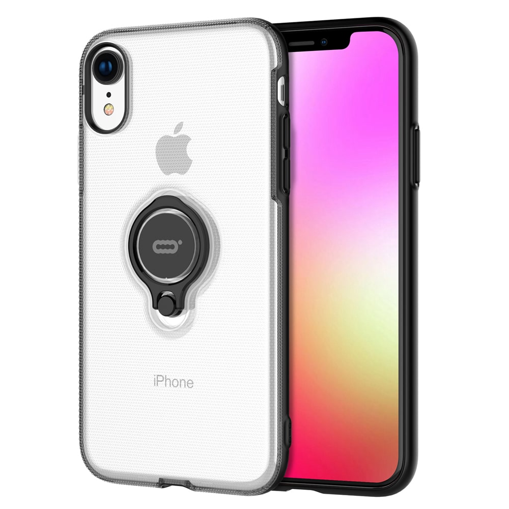 """Icon-Flang iPhone XR 6.1"""" Back Cover with Ring Holder Coolgem - Clear"""
