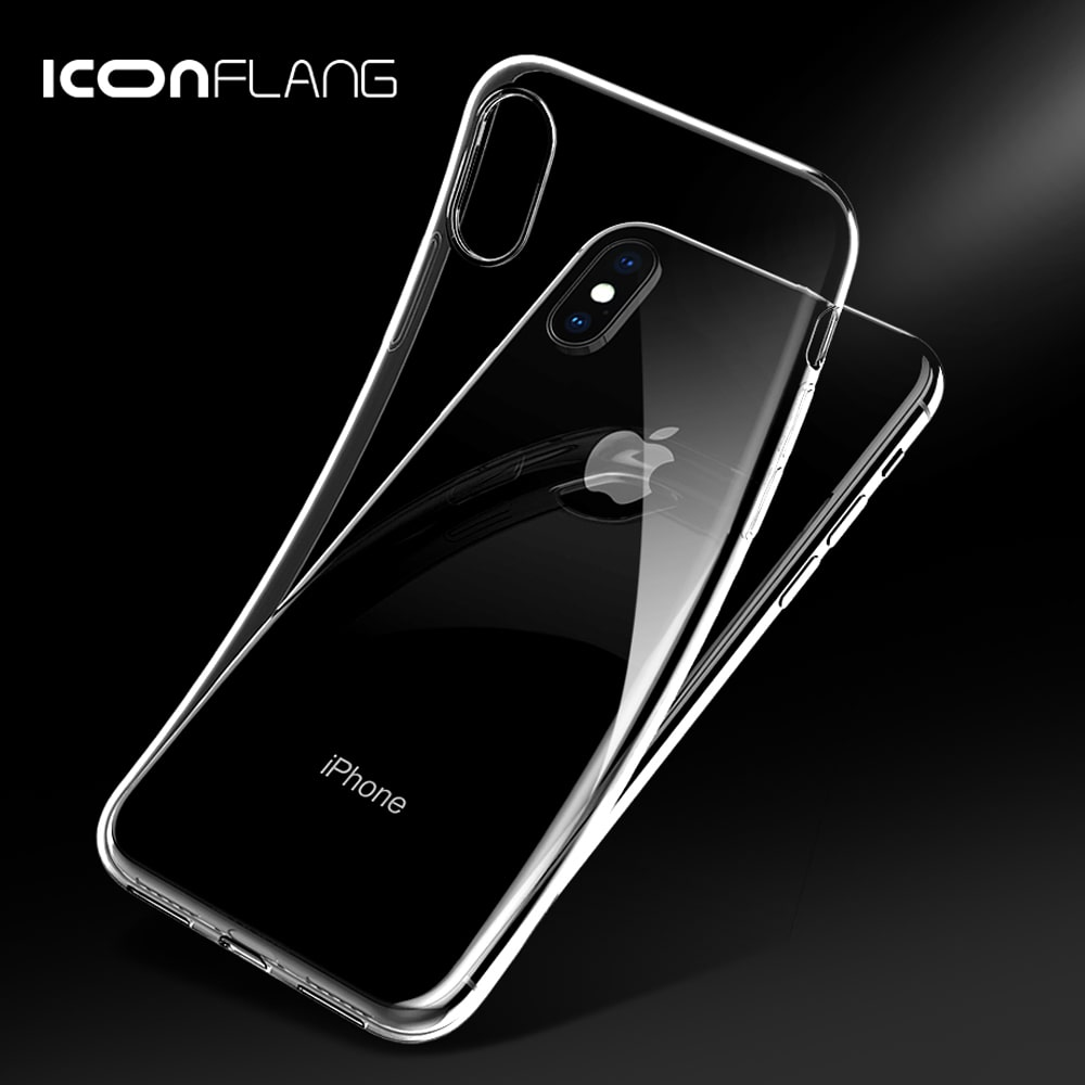 "Icon-Flang iPhone XR 6.1"" Back Cover Crystal - Dark Gray"