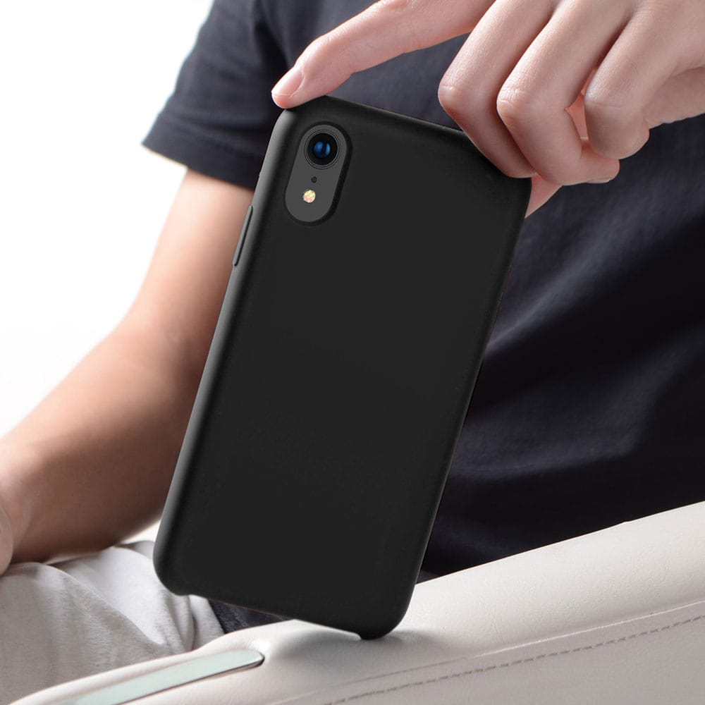 """Icon-Flang iPhone XR 6.1"""" Silicon Back Cover Jelly Series - Black"""