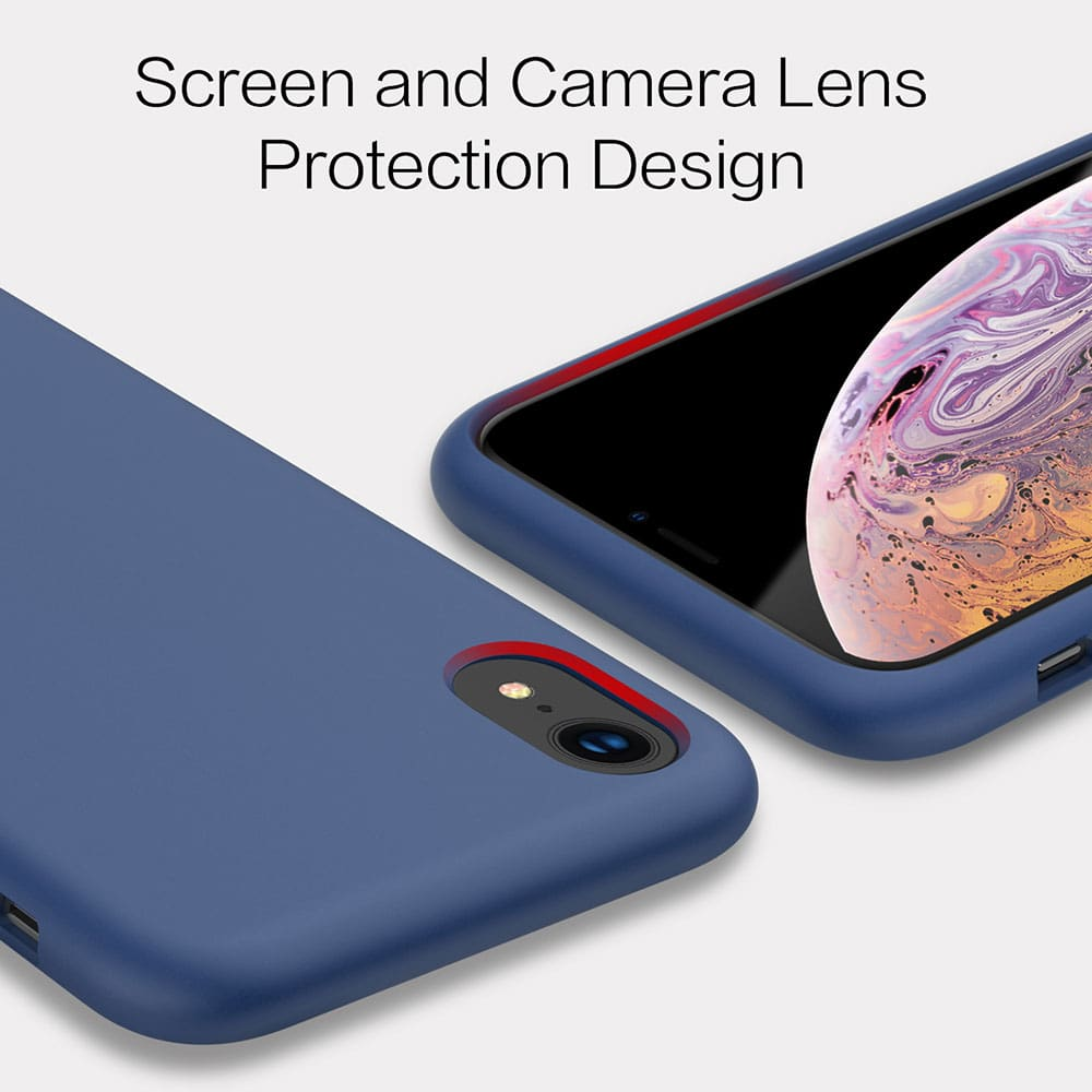 """Icon-Flang iPhone XR 6.1"""" Silicon Back Cover Jelly Series - Blue"""
