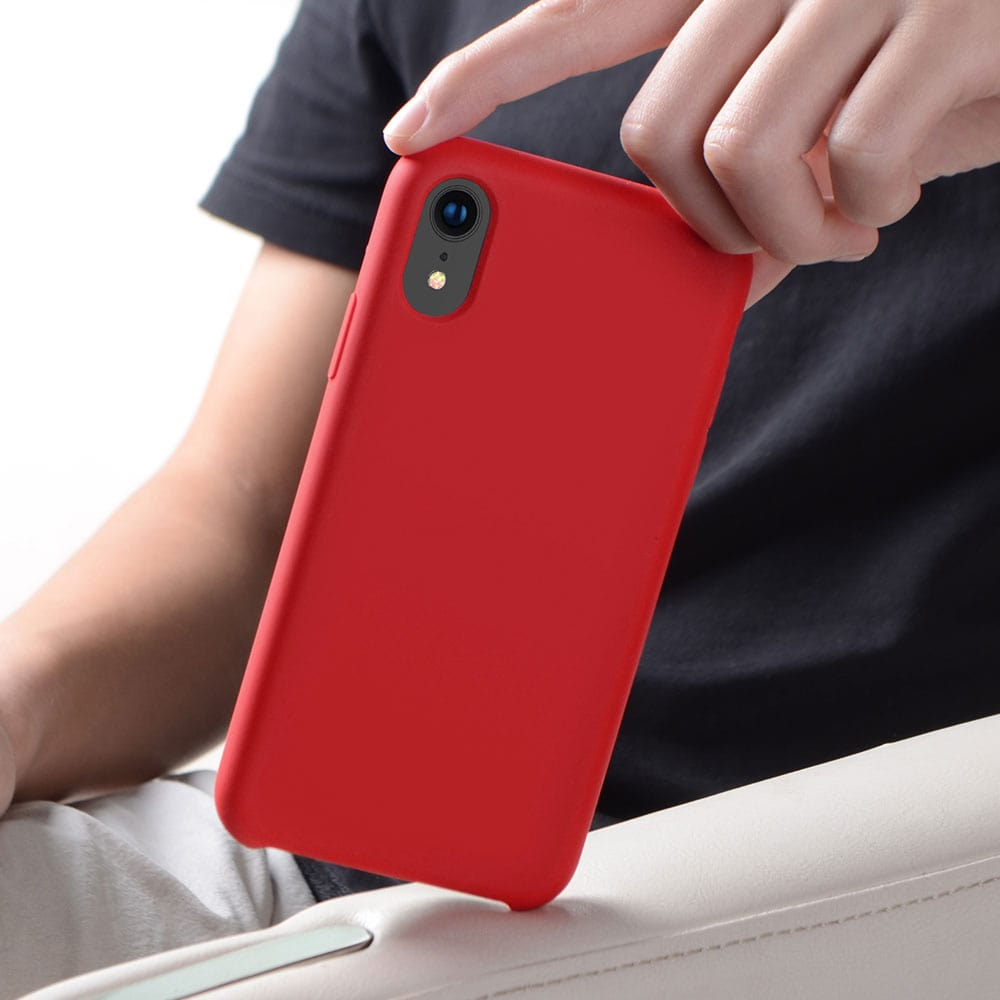 "Icon-Flang iPhone XR 6.1"" Silicon Back Cover Jelly Series - Red"