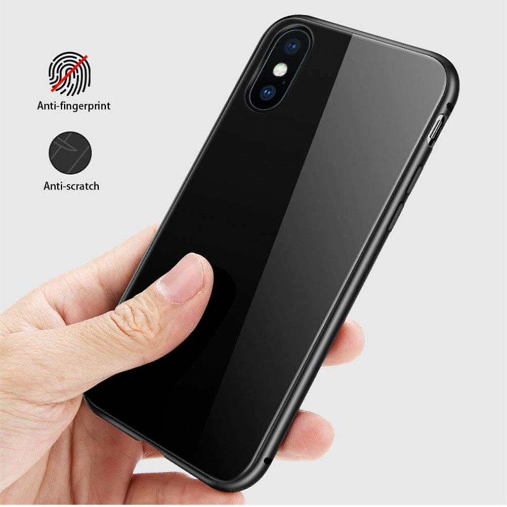 online store d02f6 8f5f7 iphone X MAX - Back Cover Magnetic - Metal Case - Black