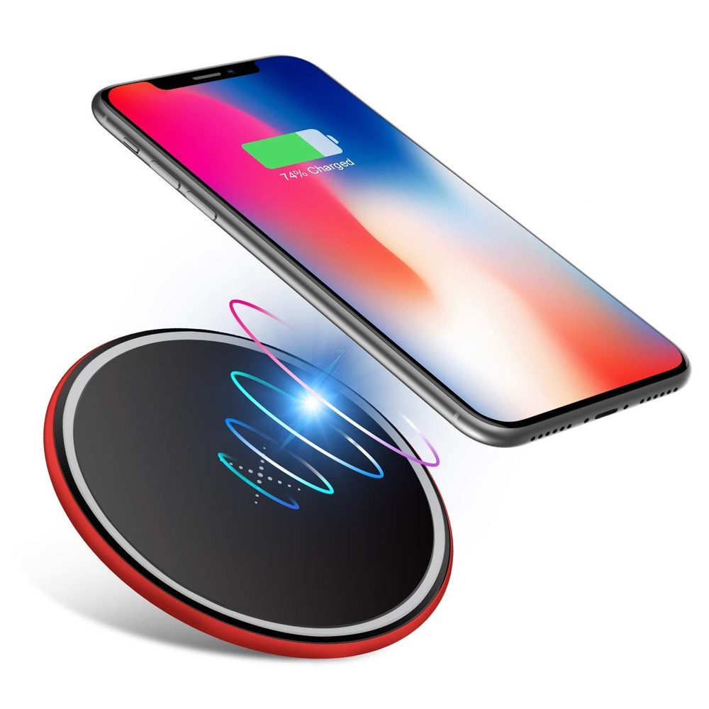 ICON-FLANG - X3 C Wireless Charger Support fast charging - Red
