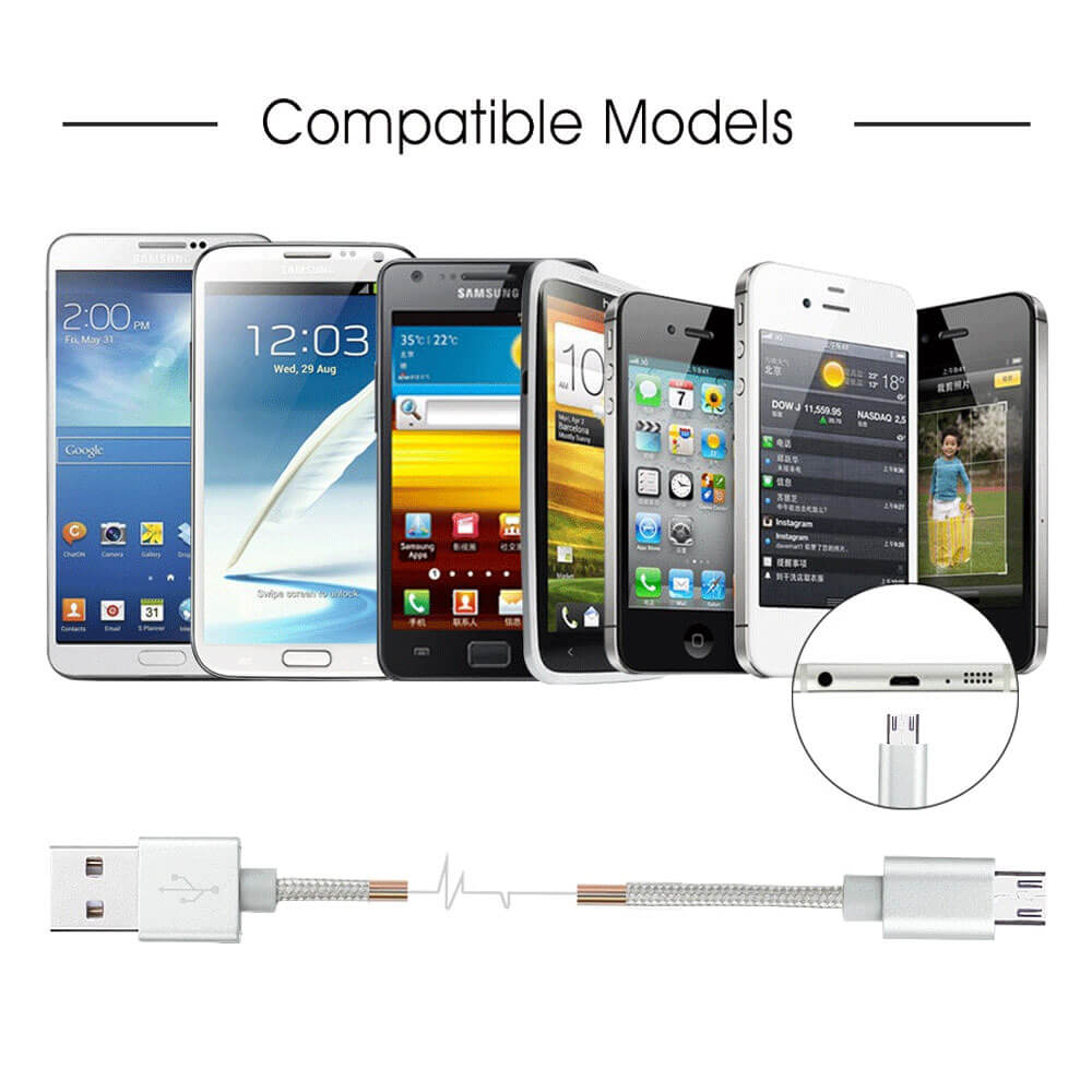 Avantree - Braided Micro USB Sync Charge Cable - 1M