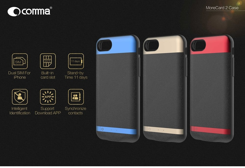 Comma Morecard 2 Case With SIM Slot - For IPhone 7-8 | 2B Egypt