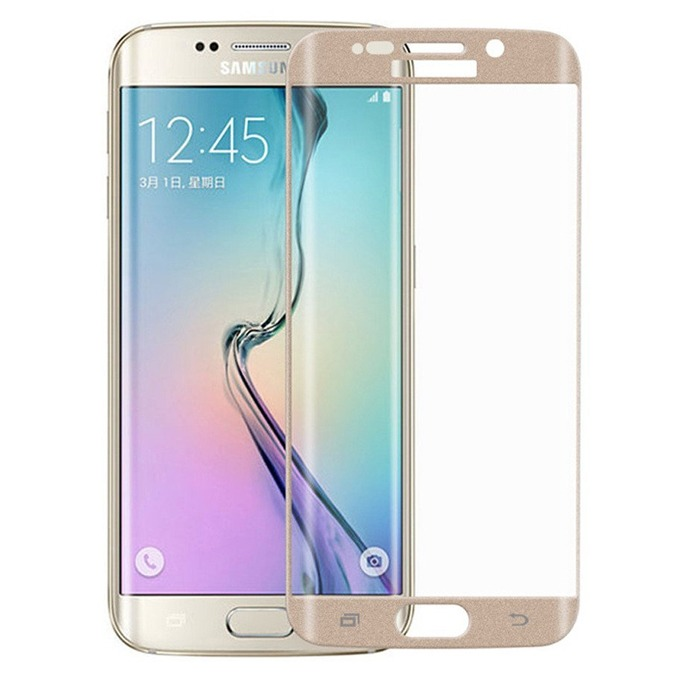 2B - samsung galaxy s6 edge 0.2mm glass screen protector - Gold