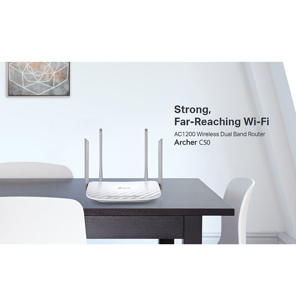 TP-Link Wireless Dual Band Router Archer C50 - (AC1200) | 2B Egypt