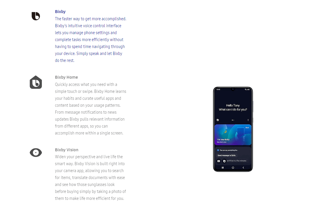 Bixby Vision Translate S10